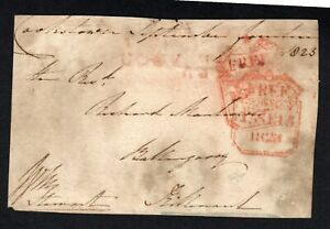 1823 Irish Free front Tyrone double frame marks & Cookstown in red