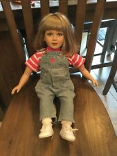 MY TWINN BLONDE  DOLL IN ORIGINAL OVERALL OUTFIT EX