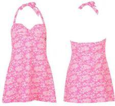 Briefs Floral Plus Size Swimwear Swimdress for Women