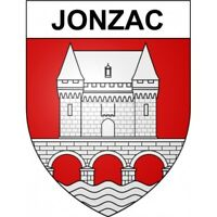 Jonzac 17 ville Stickers blason autocollant adhésif Taille:12 cm