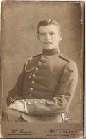 CDV photo Soldat / benannt - Göttingen um 1910