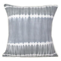 Cushion Cover Tie Dye Decorative Pillow Case Shibori Throw Indian Indigo cover