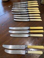 Vintage English Sheffield, Grosvenor, Cutlass S/Steel Butter Knives. Faux Bone.