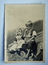 Val SARENTINO bambini Sarntal Bolzano Alto adige vecchia cartolina n