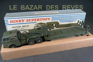 DINKY TOYS FRANCE. BERLIET porte char. REF: 890 + Boite.