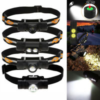 1000LM LED Headlamp USB Rechargeable Head Light Flashlight Torch Lamp Fishing SA
