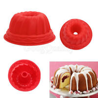 Swirl Bundt Ring Cake Bread Pastry Silicone Mold Pan Bakeware Tray Mould Tool