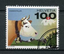 Suisse 2017 CTO Suisse vache Simmentaler 1 V Set Animaux de la ferme timbres