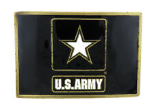 U.S. Army Enamel Bronze Metal Belt Buckle