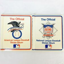 National and American League Baseball Sticker Albums Imperial Toy 1983 Lot of 2