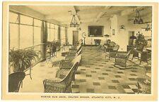 Atlantic City NJ - Colton Manor Marine Sun Deck on roof - interior view c1920s