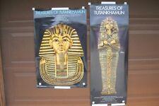 (2) Treasures of Tutankhamun Vintage Original 1976 King Tut Exhibit Posters