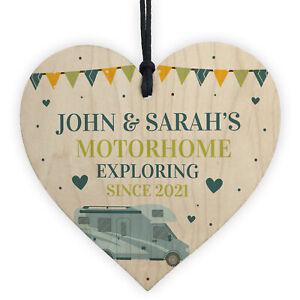 Motorhome Sign Caravan Decor Hanging Door Sign Retirement Gift Personalised