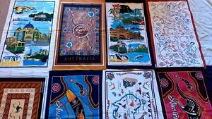 8 Australia souvenir tea towels dishcloth assorted designs NEW cotton gift