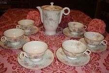 "THEODORE HAVILAND ""GLORIA"" CHOCOLATE / COFFEE / TEA  POT + 6 CUPS SET"