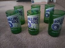 Rolling Rock Green Beer Glass 8oz. Drinking Glass Collectible set of 6