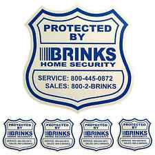 1 HOME SECURITY YARD SIGN and 4 STICKERS / DECALS FOR DOORS WINDOWS ADT BRINKS