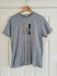 PAUL SMITH Mens 100% Organic Cotton T-Shirt In Grey Size S