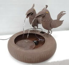 "Water fountain,Steel,two birds,Size:25.5""×17"",graceful metal fountain with sound"