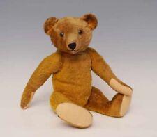 Teddy, vermtl. WILHELM STRUNZ, 20er Jahre, Mohair messing, Schuhknopfaugen