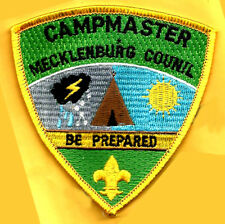 EARLY CAMP GRIMES CAMPMASTER Mecklenburg County Council Vtge NC Boy Scout #808