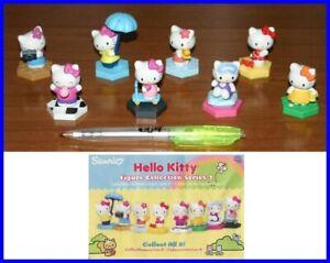 SET 8 Diverse Figure HELLO KITTY Figure Collection Serie 2 con Base Tomy Sanrio