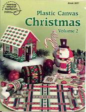 Plastic Canvas Christmas Book~ Volume 2 ~ soft cover plastic canvas book   ~