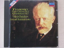 Tchaikovsky Piano Concerto No.2  Postnikova, Rozhdestvensky DECCA CD full silver