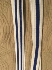 2 Mma Bjj White Belts With Stripes approx 8 Feet Long