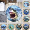 Ocean Shark Whale Non-slip Round Soft Area Rug Floor Carpet Door Mat Home Decor
