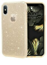 "Glitter case for iPhone Xs iPhone X 5.8"" 3 Layer Hybrid Protective-Gold Bling"