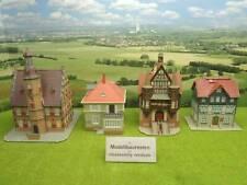 Kibri etc H0 Konvolut 4 tlg Altstadthäuser Fachwerkhäuser Villa (FZ) C0435