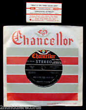 """FRANKIE AVALON-What Is This Thing Called Love-Rare Jukebox 7"""" w/Strip-CHANCELLOR"""