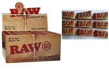 New Raw Rolling Paper Tips Box of 50 packs- RAW ROACHES FULL BOX OF BOOKLETS 50