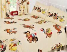 Thelwell Cartoon Horse Pony Riding Cream Double Duvet Cover Bedding Set