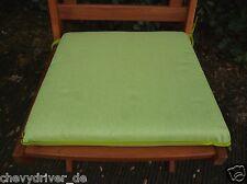 2 Stück Sitzkissen Stuhlkissen - Bezug: 100% Baumwolle Grün ca. 40x37x5cm