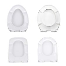Toilet Seat Lid Closed Front Soft Slow Close Cover Replacement White