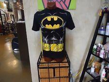 Batman black large t-shirt with detachable yellow cape, DC Fictional Superhero