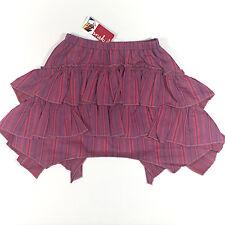 NWT Onekid Girls' Maroon Tiered Striped Skirt Size 3T