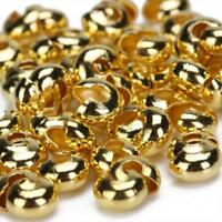 100pcs Gold Tone Crimp Covers Beads Findings for DIY Craft Jewelry Making New