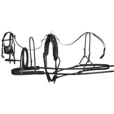 """Tough-1 Tracker Leather Pony Harness Small for Ponies 300-450 pounds (30-60"""")"""