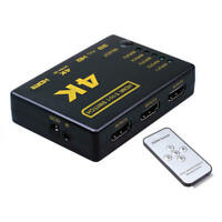 5 Port HDMI Splitter Switch Selector Switcher Hub IR Remote 1080p For  IYN