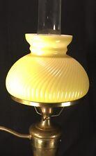 Vintage Swirl Glass Hurricane GWTW Brass Student Desk Lamp