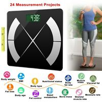 Smart Bathroom Scales Weight Scale Body Fat Bones BMI Digital iOS Android App US