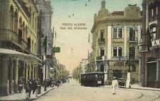 brazil, PORTO ALEGRE, Rua dos Andradas, Tram (1912) Stamp