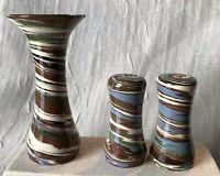 Desert Sands Handmade Pottery Salt n Pepper & Small Bud Vase Boulder City, NV