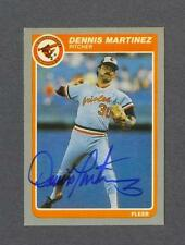Dennis Martinez signed Baltimore Orioles 1985 Fleer baseball card