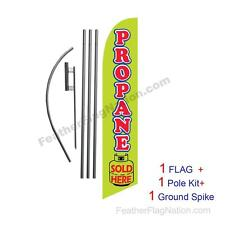 Propane Sold Here 15' Feather Banner Swooper Flag Kit with pole+spike