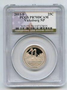 2011 S 25C Clad Vicksburg Quarter PCGS PR70DCAM