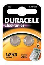 Confezione da 2 lr43 1.5 volt DURACELL PILA ALCALINA 186 ag12 v12ga lr1142 d186a